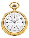 A gold pocket watch that once belonged to U.S. military war hero General George S. Patton Jr. is pictured in this undated handout photo obtained by Reuters on October 29, 2015. The watch, 1909 Five Minute Repeater by Patek Philippe, fetched $137,000 at auction in New York City October 29. REUTERS/Heritage Auctions/Handout