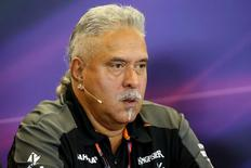 Formula One - F1 - United States Grand Prix 2015 - Circuit of the Americas, Austin, Texas, United States of America - 23/10/15 Force India team owner Dr. Vijay Mallya during a press conference Mandatory Credit: Action Images / Hoch Zwei Livepic
