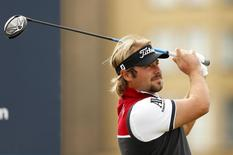 Golf - Alfred Dunhill Links Championship - St. Andrews, Scotland - 3/10/15 Victor Dubuisson of France tees off at the 3rd during the third round Mandatory Credit: Action Images / Jason Cairnduff Livepic