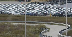 Cars are seen at the Volkswagen Chattanooga Assembly Plant in Chattanooga, Tennessee November 4, 2015. REUTERS/Tami Chappell