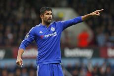 Atacante Diego Costa durante partida do Chelsea na Liga Inglesa.  15/10/2015  Reuters / Eddie Keogh