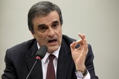 Ministro da Justiça, José Eduardo Cardozo, durante CPI da Petrobras na Câmara dos Deputados, em Brasília, em julho. 15/07/2015 REUTERS/Ueslei Marcelino