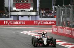 Lotus' Romain Grosjean during qualifying. Mandatory Credit: Action Images / Hoch Zwei