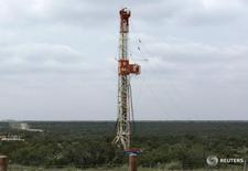 A rig contracted by Apache Corp in the Wolfcamp shale located in the Permian Basin in West Texas October 29, 2013.  REUTERS/Terry Wade
