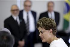 Presidente Dilma Rousseff durante encontro com príncipe do Japão no Palácio do Planalto, em Brasília. 06/11/2015 REUTERS/Ueslei Marcelino