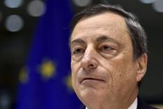 Presidente do Banco Central Europeu (BCE), Mario Draghi, durante evento em Bruxelas.  12/11/2015    REUTERS/Eric Vidal