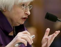 """Federal Reserve Board Chair Janet Yellen testifies before the House Financial Services Committee on the """"Federal Reserve's Supervision and Regulation of the Financial System"""" in Washington November 4, 2015.       REUTERS/Gary Cameron"""