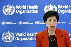 World Health Organization Director-General Margaret Chan arrives for the launch of the Global Status Report on Road Safety 2015 at the WHO headquarters in Geneva, Switzerland, October 19, 2015. REUTERS/Denis Balibouse