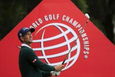 Adam Scott of Australia tees off on the fourth hole during the pro-am of the WGC-HSBC Champions golf tournament in Shanghai, China, November 4, 2015. REUTERS/Aly Song