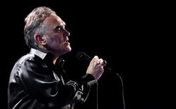 British singer-songwriter Morrissey performs during the International Song Festival in Vina del Mar city. REUTERS/Eliseo Fernandez