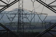 Линии электропередачи в Богатыне, Польша 19 марта 2012 года. Зависящая от импорта российских энергоносителей Литва начала импорт электричества из соседней Польши, что вкупе с поставками из Швеции способно обеспечить половину спроса в пиковые нагрузки. REUTERS/Kacper Pempel