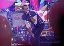 """Chris Martin of Coldplay sings """"Adventure of a Lifetime"""". REUTERS/Mario Anzuoni"""