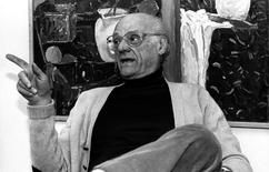 American playwright Arthur Miller is pictured during an interview in his apartment in New York, United States, in this November 17, 1987 file photo. REUTERS/Mark Petersen/Files