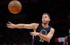 Dec 5, 2015; Los Angeles, CA, USA; Los Angeles Clippers forward Blake Griffin (32) passes the ball during the third quarter against the Orlando Magic at Staples Center. Mandatory Credit: Robert Hanashiro-USA TODAY Sports