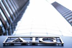 AIG est l'une des valeurs à suivre sur les marchés américains après que l'assureur a annoncé la vente d'un bloc d'actions du chinois PICC Property and Casualty Co Ltd à la Bourse de Hong Kong, pour la deuxième fois de l'année. Il espère tirer de l'opération jusqu'à un milliard de dollars. /Photo d'archives//REUTERS/Eric Thayer