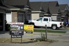 Real estate for sale in City of Lloydminster following a tour of Gear Energy's well sites near Lloydminster, Saskatchewan August 27, 2015.   REUTERS/Dan Riedlhuber