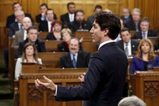 Canada's Prime Minister Justin Trudeau speaks during Question Period in the House of Commons on Parliament Hill in Ottawa, Canada December 7, 2015. REUTERS/Chris Wattie