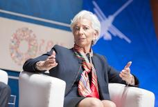 International Monetary Fund Managing Director Christine Lagarde participates in a Seminar on Global Economy as part of the 2015 IMF/World Bank Annual Meetings in Lima, Peru, October 8, 2015.  REUTERS/IMF Staff Photo/Stephen Jaffe/Pool