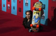 Cast member Rose Siggins poses at the premiere of  'American Horror Story: Freak Show' in Hollywood, California, in this file photo taken October 5, 2014.   REUTERS/Mario Anzuoni/Files