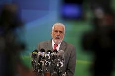 Ministro-chefe da Casa Civil, Jaques Wagner, durante evento no Palácio do Planalto, Brasília.   03/12/2015     REUTERS/Ueslei Marcelino
