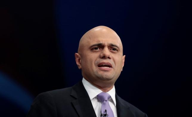 Britain's Business Secretary Sajid Javid delivers his keynote address at the Conservative Party Conference in Manchester, Britain October 5, 2015.   REUTERS/Suzanne Plunkett