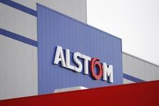 Alstom enregistre la plus forte baisse du CAC 40 (-1,78%) vers 13h00. Au même moment, l'indice phare de la Bourse de Paris gagne 0,54% à 4.650,14 points. /Photo d'archives/REUTERS/Stéphane Mahé