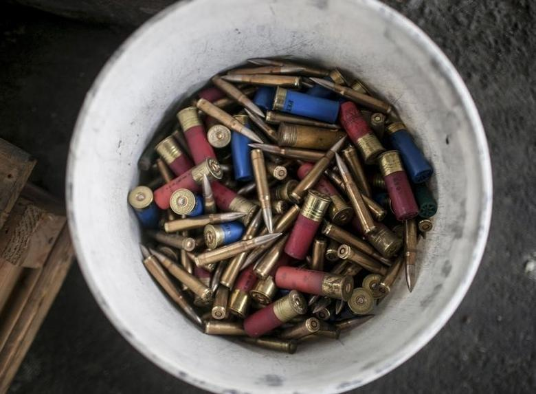 Bullets handed in to the Seattle Police Department during the gun buyback event in Seattle, Washington January 26, 2013. REUTERS/Nick Adams