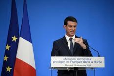 Primeiro-ministro francês, Manuel Valls, concede entrevista coletiva, em Paris, na França. 23/12/2015 REUTERS/Eric Feferberg/Pool