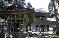 Sanmon gate (R), or the main gate, and Shorodo, which contains a large bronze bell, are pictured at the Eiheiji temple in Eiheiji town, Fukui prefecture, October 14, 2015. REUTERS/Junko Fujita