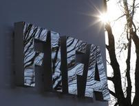 Logo da Fifa na sede da entidade em Zurique. 17/12/2015 REUTERS/Ruben Sprich