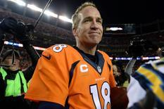 Denver Broncos quarterback Peyton Manning  Credit: Ron Chenoy-USA TODAY Sports