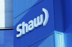 The Shaw logo is pictured on their Barlow Trail building, home to the annual Shaw AGM, in Calgary, Alberta January 14, 2014. REUTERS/Todd Korol
