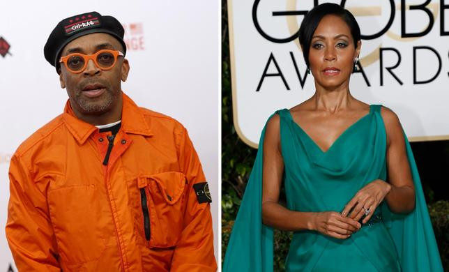 Director Spike Lee and actress Jada Pinkett Smith in a combination image. REUTERS/Files