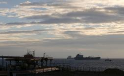 Oil tankers sit anchored off the Fos-Lavera oil hub near Marseille, France, January 19, 2016. REUTERS/Jean-Paul Pelissier