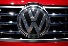 Detail view of a Volkswagen logo at the North American International Auto Show in Detroit, January 12, 2016.   REUTERS/Mark Blinch