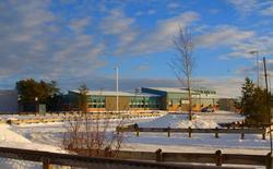 The Dene high school campus of the La Loche Community School in an undated photo.  REUTERS/Raymond Dauvin