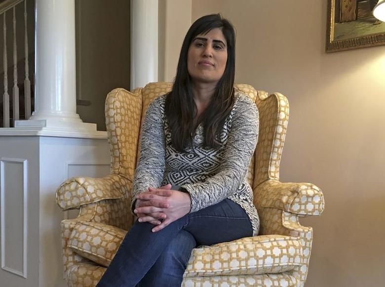 Naghmeh Abedini, the wife of naturalized U.S. citizen Saeed Abedini who was detained in Iran in 2012, is pictured in the home of her parents in West Boise, Idaho, January 20, 2016.   REUTERS/Ben Klayman