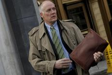 Former chief executive of Fannie Mae Daniel Mudd exits U.S. District Court in the Manhattan borough of New York City, January 27, 2016, after attending arguments in the Securities Exchange Commission (SEC) case against him. REUTERS/Mike Segar - RTX249UI