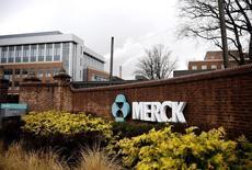 Le groupe pharmaceutique américain Merck & Co annonce une baisse de 2,5% de son chiffre d'affaires trimestriel, pénalisé par l'appréciation du dollar et le recul des ventes du Remicade, son traitement de la polyarthrite rhumatoïde dont le brevet est tombé dans le domaine public. /Photo d'archives/REUTERS/Jeff Zelevansky