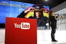 YouTube star Lilly Singh unveils YouTube's new paid subscription service at the YouTube Space LA in Playa Del Rey, Los Angeles, California, United States October 21, 2015.  REUTERS/Lucy Nicholson