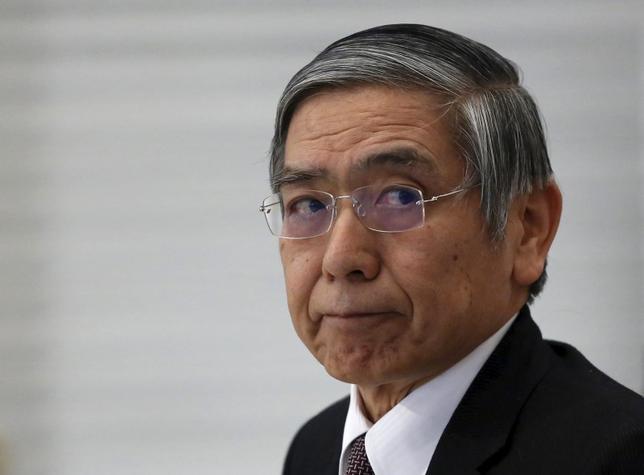 2月4日、黒田東彦日銀総裁は午後の衆院予算委員会に出席し、日銀のマイナス金利政策の導入を受けても、個人の預金金利がマイナスになる可能性はないとの見解を示した。写真は都内で3日撮影(2016年 ロイター/Yuya Shino)