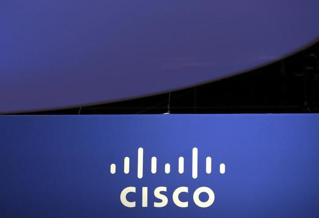 The Cisco Systems logo is seen as part of a display at the Microsoft Ignite technology conference in Chicago, Illinois, May 4, 2015. REUTERS/Jim Young/Files