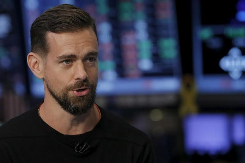 Jack Dorsey, CEO of Square and CEO of Twitter, speaks during an interview with CNBC following the IPO for Square Inc., on the floor of the New York Stock Exchange November 19, 2015.EUTERS/Lucas Jackson