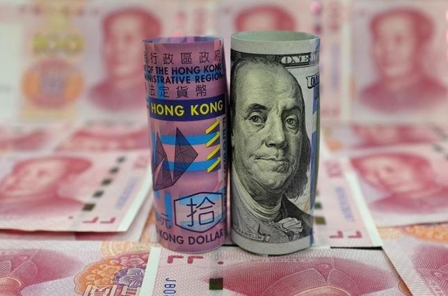 2月11日、香港特別行政区政府のKC・チャン金融政策・公庫長官は、香港は大規模な外貨準備と資産を有しており、香港ドルの米ドルペッグ制に対する攻撃に対処できるとの見解を示した。1月撮影(2016年 ロイター/Jason Lee)