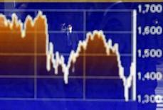График индекса TOPIX на экране брокерской конторы в Токио. 4 февраля 2016 года. Японский индекс Nikkei просел до нового минимума 16 месяцев на активных торгах в пятницу и продемонстрировал крупнейший недельный спад с 2008 года, так как инвесторы избавлялись от рискованных активов из-за падения доллара до минимума 15 месяцев к иене. REUTERS/Yuya Shino