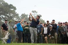 Phil Mickelson on the 13th hole during the third round of the AT&T Pebble Beach National Pro-Am at Pebble Beach Golf Links.  Kyle Terada-USA TODAY Sports