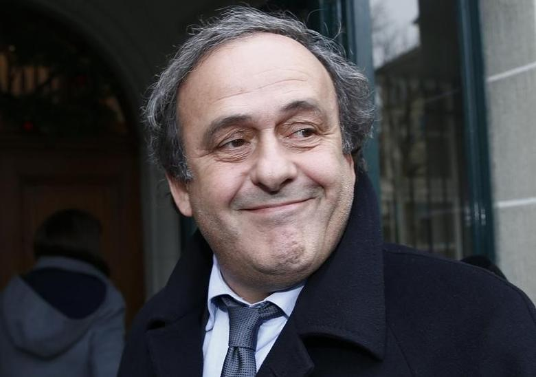UEFA President Michel Platini smiles as he arrives for a hearing at the Court of Arbitration for Sport (CAS) in Lausanne, Switzerland December 8, 2015. PREUTERS/Denis Balibouse