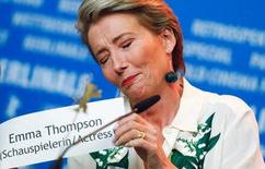 Actress Emma Thompson attends a news conference to promote the movie Alone in Berlin at the 66th Berlinale International Film Festival in Berlin, Germany, February 15, 2016. REUTERS/Hannibal Hanschke