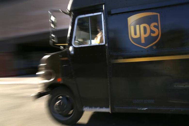 A UPS delivery truck is seen in New York City March 6, 2014.  REUTERS/Mike Segar