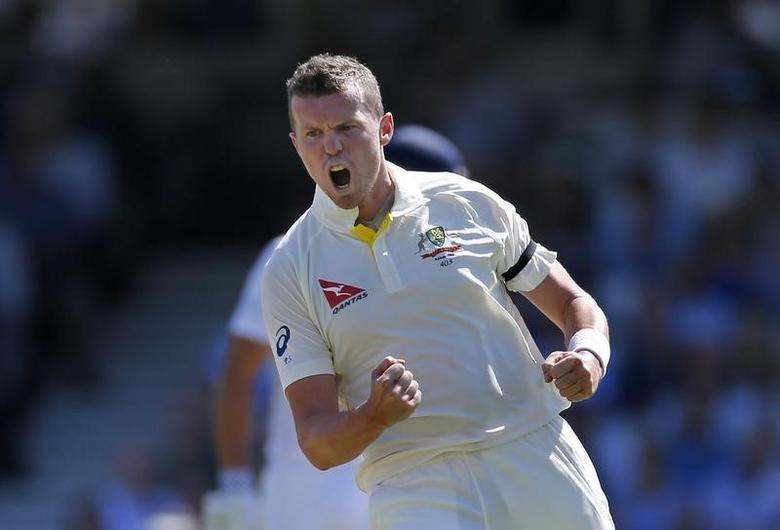 Australia's Peter Siddle celebrates the wicket of England's Adam LythAction Images via Reuters / Paul Childs
